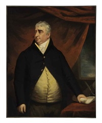 portrait of the right honorable charles james fox standing beside a table by john opie