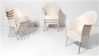 suite de huit chaises lord yo (set of 8) by philippe starck