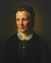 portræt af ung kvinde by otto bache