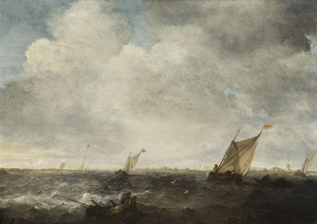 marine par mer agitée by abraham van beyeren