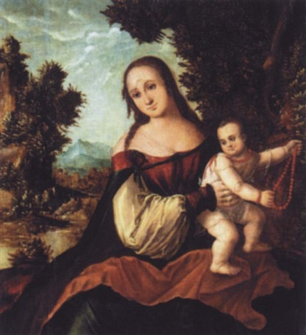 the madonna and child by danube school 16