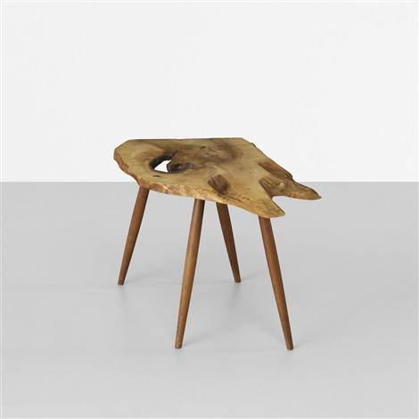 slab end table by george nakashima