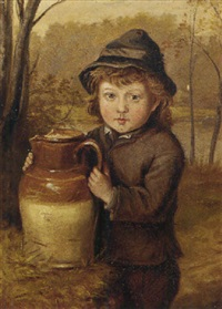 a young boy with a pitcher by justus hill