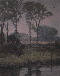 landscape with pond by john franklin stacey