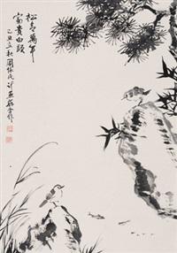 富贵白头 立轴 水墨纸本 by zhou huaimin and ji yansun