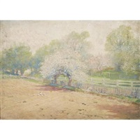 the young, the rosy spring, locust grove by william henry lippincott