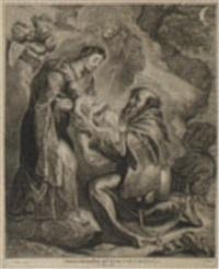 die vision des hl. franziskus by cornelis visscher