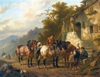 a rest at the inn by wouter verschuur the elder