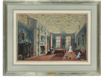the drawing room at aston hall, warwickshire by joseph nash