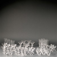 glassware items (c.49 works) by steuben glass