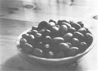 still life with pecans, greenwich village, new york by larry colwell