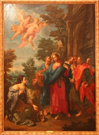 le christ et marie-madeleine by nicolas mignard