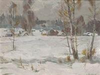 paisaje nevado by sergei antonov