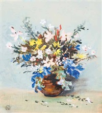 a still life of spring flowers by nita spilhaus