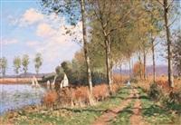 automne dans le marais d'ecourt st. quentin (pas de calais) by maurice lemaître