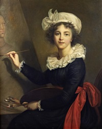 self portrait of the artist (after madam elisabeth vigee lebrun) by santi corsi