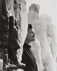 alfred hrdlicka in seinem atelier by barbara pflaum
