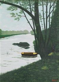 l'arbre au bord de la rivière by camille bombois