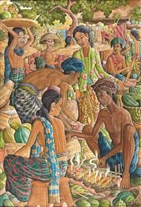 balinese traditional market by anak agung gede sobrat