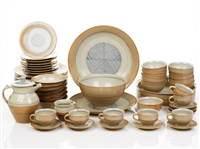 porcelain dinner set (set of 52) by gwyn hanssen pigott
