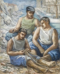 les pêcheurs by serge fotinsky