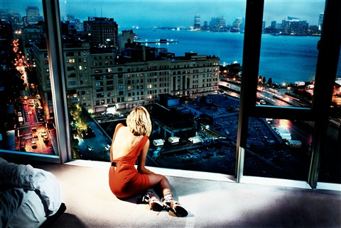 girl in the orange dress by david drebin