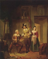 visit to the artist's studio by jan hendrik van de laar