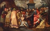 die auferstehung des lazarus by ambrosius francken the elder