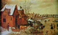 ein dorf im winter by pieter dircksz van santvoort