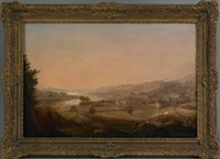 view of clyde from dunotar hill by jno. fleming by john fleming