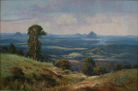 towards the glass house mountains queensland by chris huber