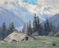 col des montets (chamonix) by charles henry contencin