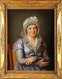 portrait de laetitia ramolino, mère de l'empereur napoléon 1er by jacques-louis david