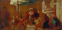 christ baptising the children by alexander runciman