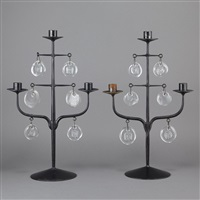 three-light candelabra (pair) by erik höglund