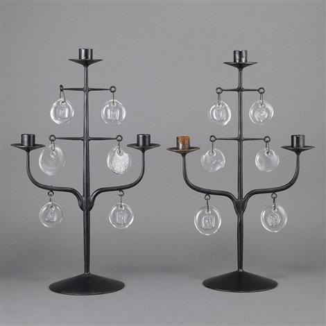 three light candelabra pair by erik höglund