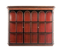 wall display cabinet (commissioned for lambay castle) by edwin henry lutyens
