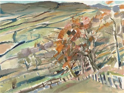 yorkshire nidderdale autumn by michael honnor