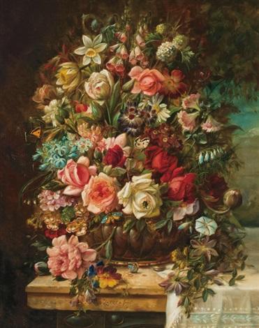 floral still life by hans zatzka