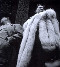 woman in fur by leon levinstein