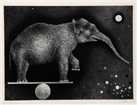 elephant equilibriste by mario avati