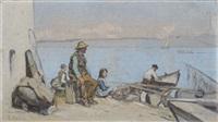 le vieux pêcheur, petite version by francois-louis-david bocion