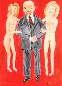 lenin with nudes by vadim voinov