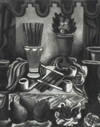 still life with pipes and cigars by louis bouché