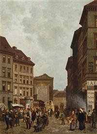 in berlin. blick vom spittelmarkt in die wallstrasse by paul andorff