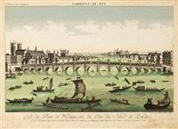 vue du pont de westminster by balthazar frederich leizelt