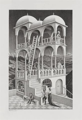 belvedere by m c escher