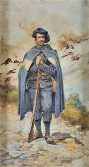 soldat italien dans les balkans by verescagin vasilij vasil'evic