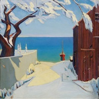 early snow, cape cod by heinrich h. pfeiffer