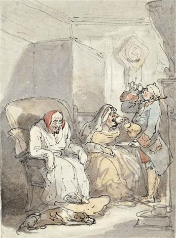 a glass of punch by thomas rowlandson